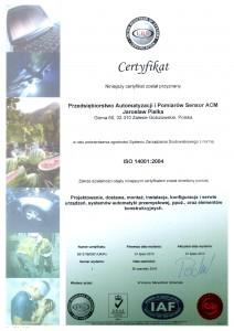 cert ISO 14001 PL