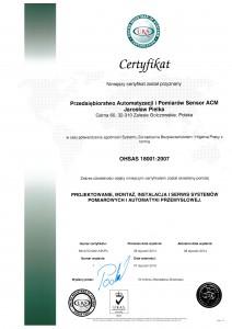 cert OHSAS 18001 PL