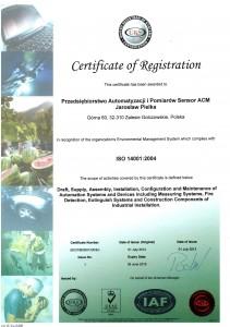 cert ISO 14001 EN